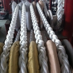 Polyester 8-strand braided ropes