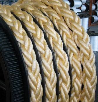 Combined 8-strand braided ropes