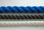 Polypropylene multifilament 3-strand twisted ropes