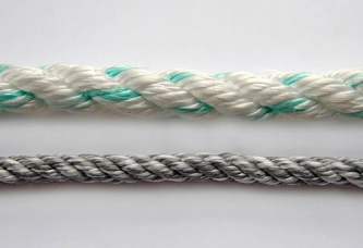 Polyester & polyolefin 3-strand fiber twisted ropes